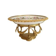 Sevres Porcelain Fontainebleu Centerpiece Bowl