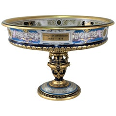 Sevres Porcelain Presentation 'Coupe Cybele' Awarded At The Paris Universal Expo