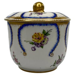 Sevres Porcelain Sucrier and Cover, Dated 1783