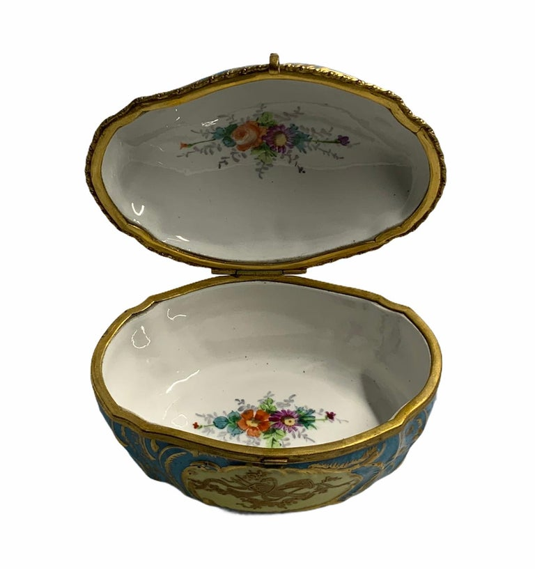 Sevres Style French Porcelain Trinket Box For Sale 5