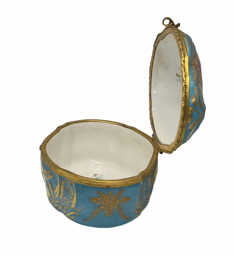 Sevres Style French Porcelain Trinket Box For Sale 6