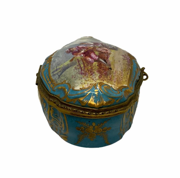 Sevres Style French Porcelain Trinket Box For Sale 7