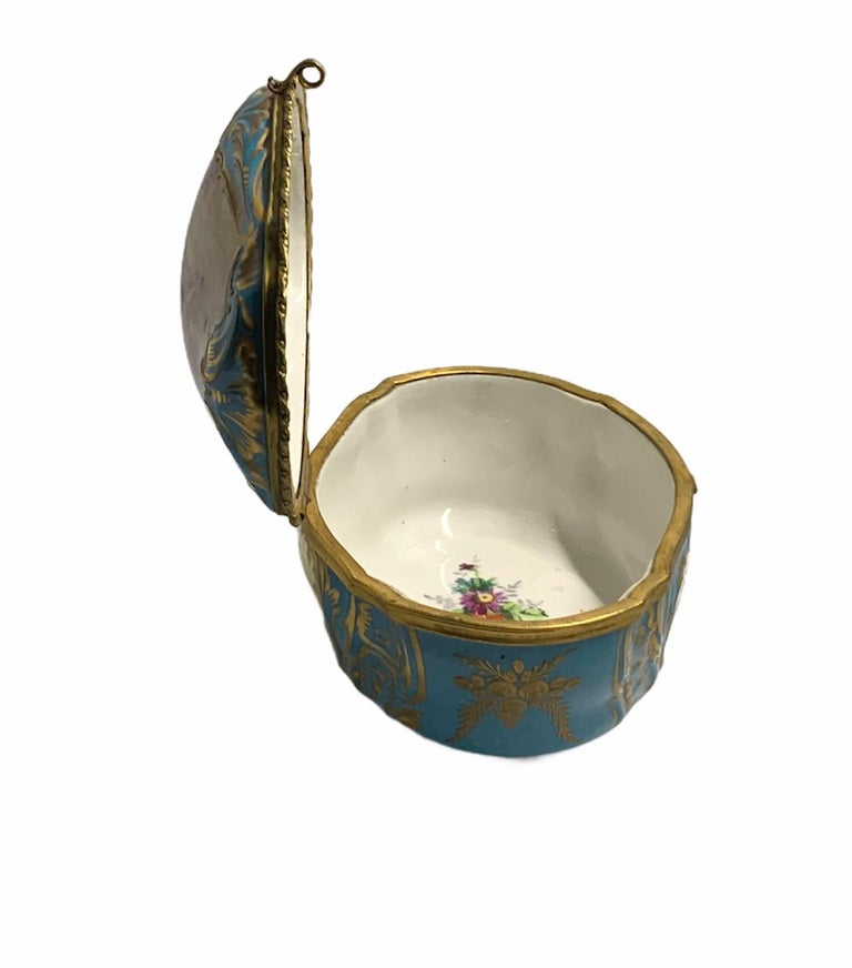 Sevres Style French Porcelain Trinket Box For Sale 8