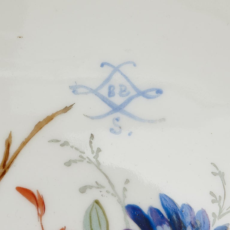 Sèvres Style Porcelain and Gilt Bronze Jardiniere and Vase Garniture  For Sale 2