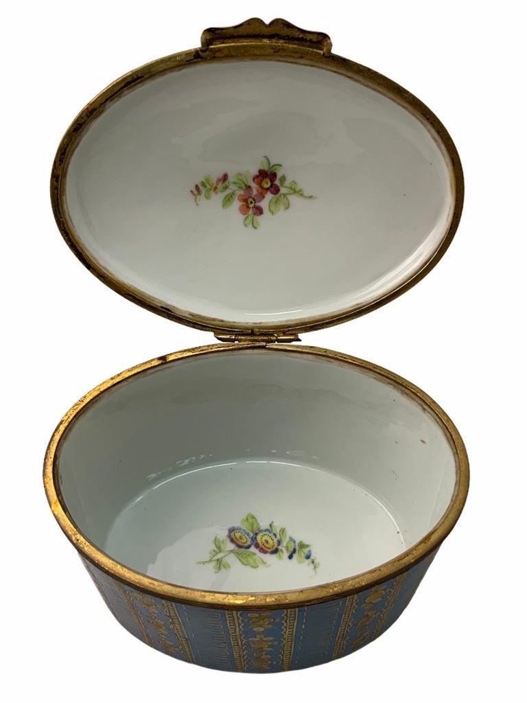 Sevres Style Porcelaine De Paris Hinged Chest Box For Sale 1