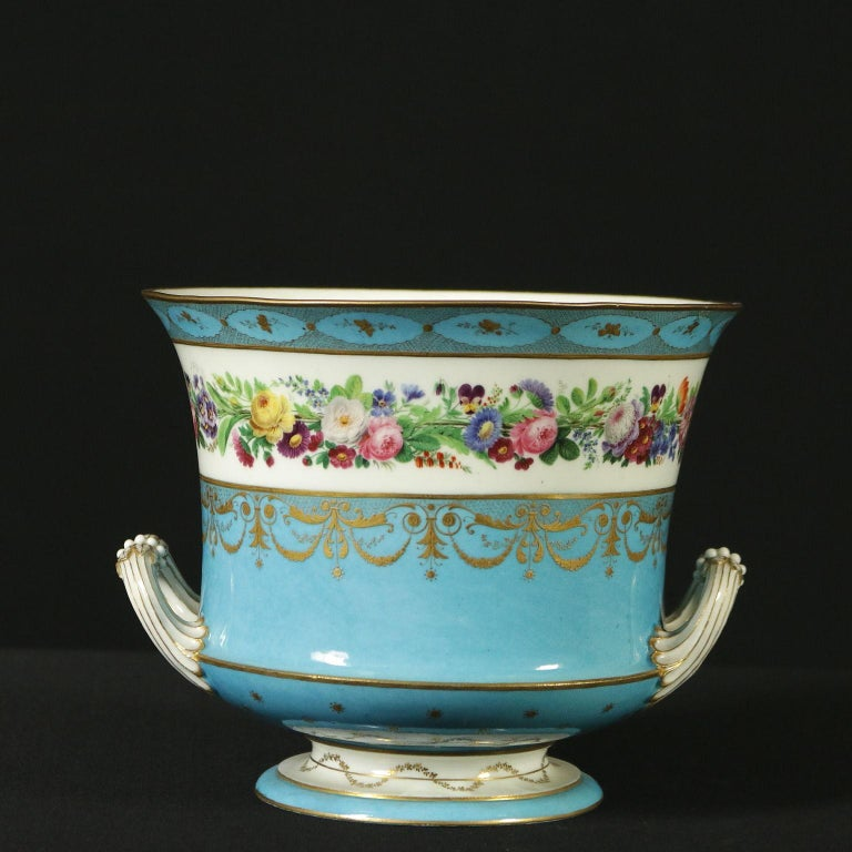 Neoclassical Sèvres Vase Gold and Porcelain, France, 18th Century For Sale