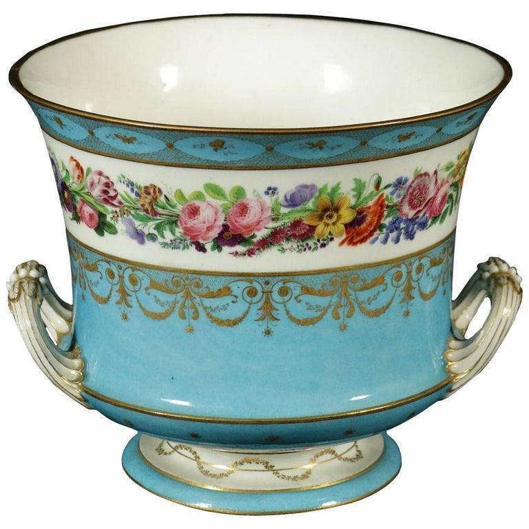 Sèvres Vase Gold and Porcelain, France, 18th Century For Sale