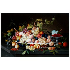 Sevrin Roesen Still Life Painting Still Life with Fruit on a Platter, American