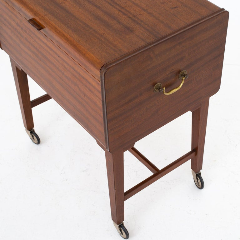 Lacquered Sewing Table by Ludvig Pontoppidan