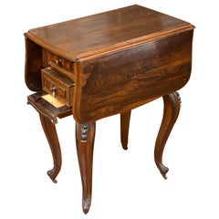 Sewing Table with Wings, Palosanto or Rosewood Wood, 19th Century