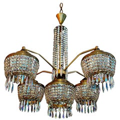 Sexy 1960s Crystal Chandelier