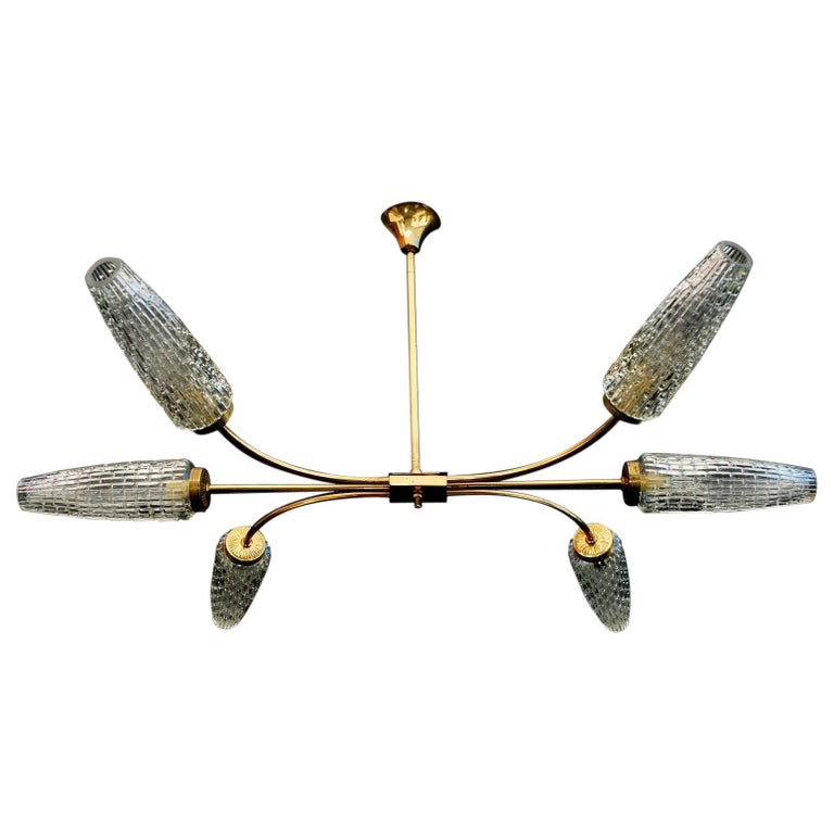 Sexy French Midcentury Chandelier For Sale