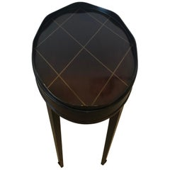 Sexy Java Finish Oval Side End Table by Barbara Barry for Baker