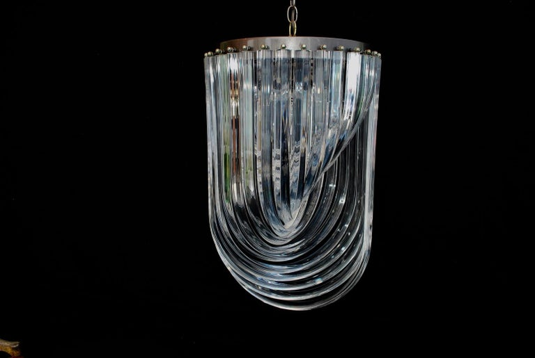 American Sexy Midcentury Lucite Light For Sale
