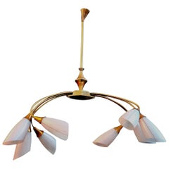 Sexy Midcentury French Chandelier