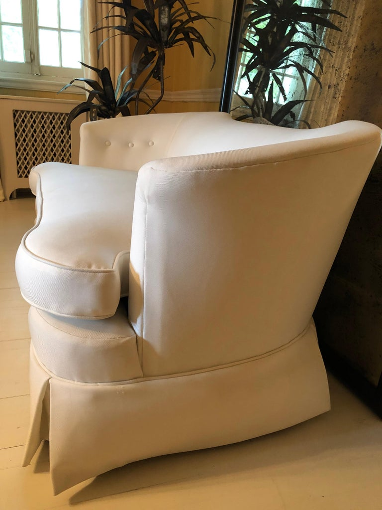 Hollywood Regency Sexy Vintage Curvy Plush Settee Loveseat For Sale