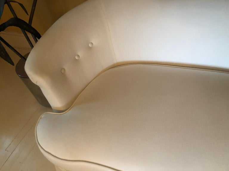 American Sexy Vintage Curvy Plush Settee Loveseat For Sale