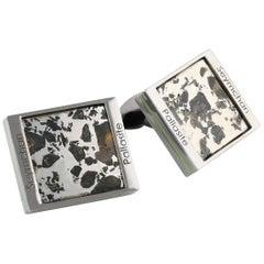 Seymchan Pallasite Cufflinks ( Limited Edition of 19 Pairs)
