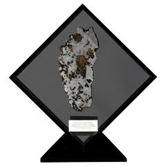 Seymchan with Olivine Meteorite from Russia in a Custom Acrylic Display