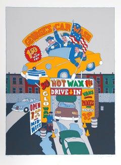 """""""George's Car Wash"""", circa 1979, Serigraph by Seymour Chwast"""