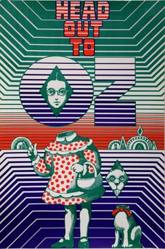 """""""Head Out To OZ"""", 1967, Vintage Poster by Seymour Chwast"""