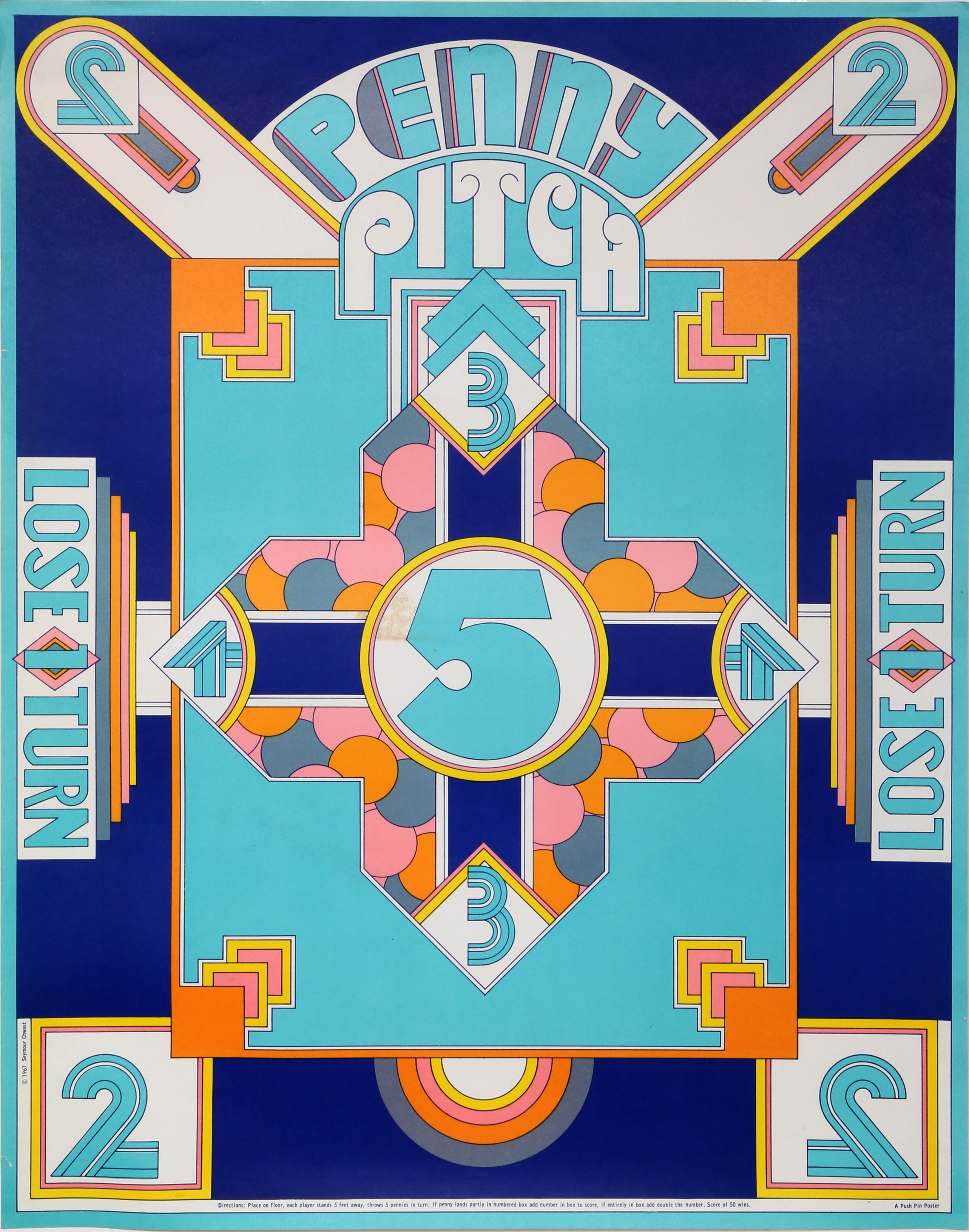 """""""Penny Pitch"""", 1967, Vintage Poster by Seymour Chwast"""