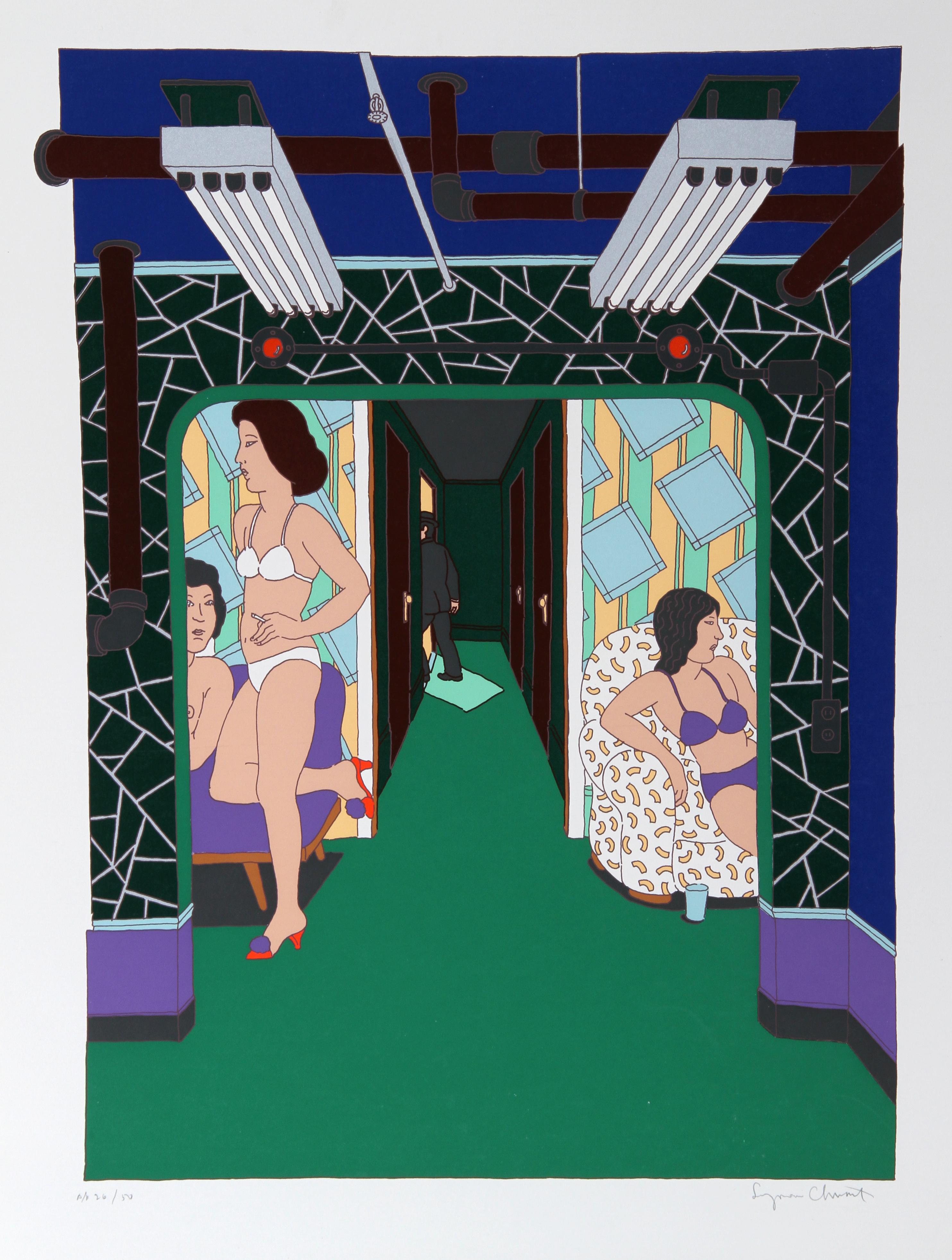 """""""The Massage Parlor"""", circa 1979, Serigraph by Seymour Chwast"""