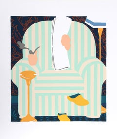 """""""Where's Father?"""", circa 1979, Serigraph by Seymour Chwast"""