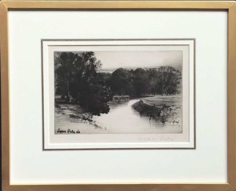 Seymour Haden Landscape Print - A Sunset in Ireland.