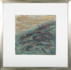"""Storm at Sea II"" 1990 Ink Watercolor & Pastel"