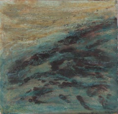 """Storm at Sea II"",  Pt. Lobos, CA, Abstract Seascape in Painting, 1990"