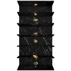 Sfera Bookcase by Livio Ballabio and Kyoji Nagatani
