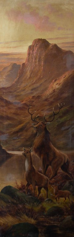 S.G. Morley - Early 20th Century Oil, Majestic Highland Stag