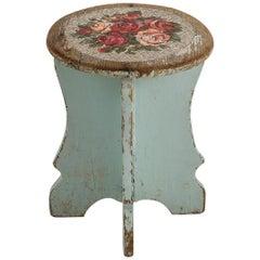 Sgabello Con Rose Stool with Venetian Glass Seat by Yukiko Nagai