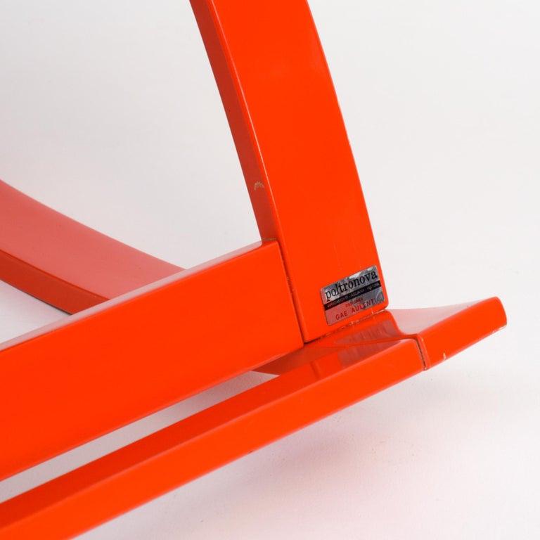 Sgarsul Rocking Chair by Gae Aulenti for Poltronova For Sale 12