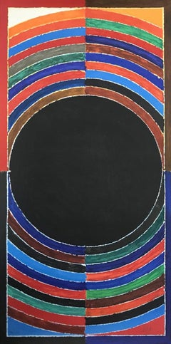 """Bindu, Lithograph on Paper, Red, Blue, Green by S.H. Raza """"In Stock"""""""