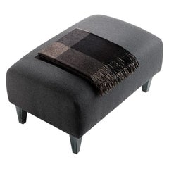 Shabbino Upholstered Stool with Wooden Feet Covered with Fabric
