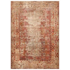 Shabby Chic 18th Century Antique Deccan Indian Rug. Size: 11 ft x 15 ft 5 in