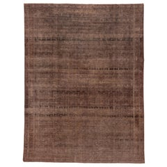 Shabby Chic Antique Indian Amritsar Rug, Brown Palette, circa 1920s