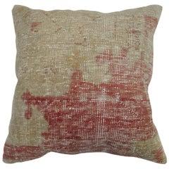 Shabby Chic Antique Oushak Rug Pillow