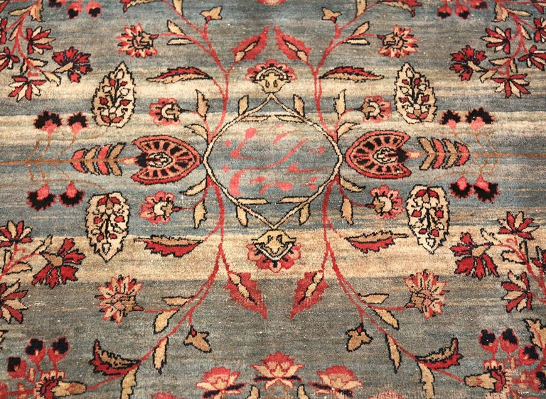 20th Century Shabby Chic Antique Persian Kerman Rug For Sale