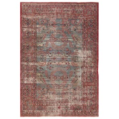 Shabby Chic Antique Persian Kerman Rug