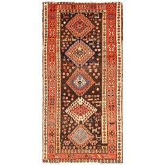 Shabby Chic Antique Persian Kurdish Rug