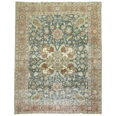 Shabby Chic Antique Persian Tabriz Room Size Rug