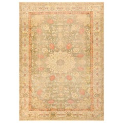 Shabby Chic Antique Silk Turkish Kayseri Rug. Size: 9 ft x 12 ft 6 in