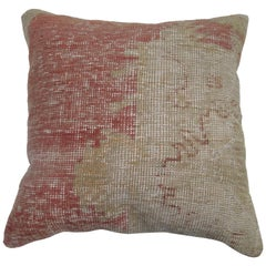 Shabby Chic Oushak Medallion Rug Pillow