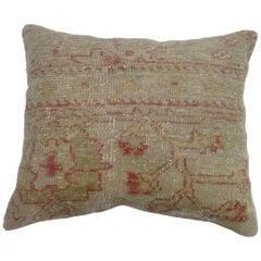 Shabby Chic Oushak Rug Pillow