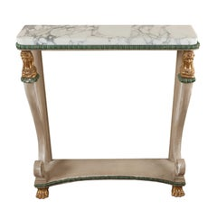 Shabby Chic Painted Empire Console Table, circa 1815