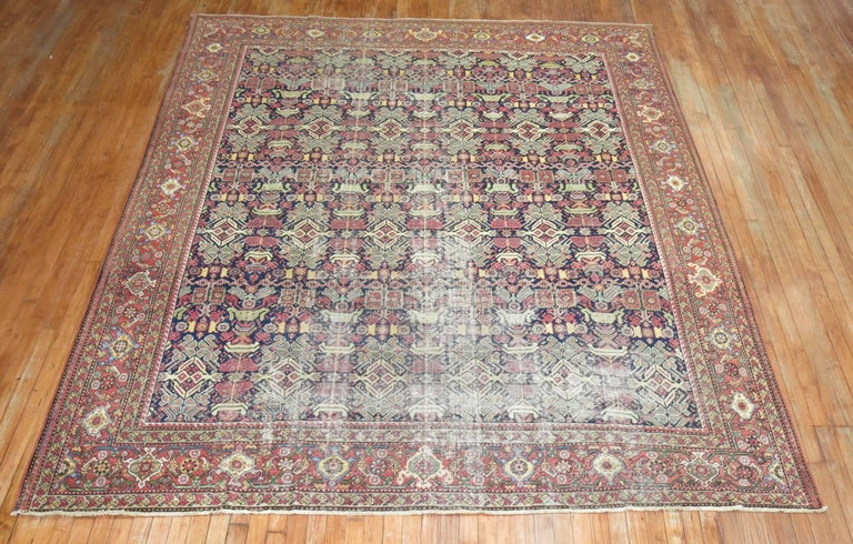 Hand-Woven Shabby Chic Persian For Sale