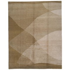 Shades of Green Contemporary Rug